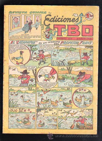 REVISTA COMICA DE EDICIONES TBO. EL CAZAPATOS ES UN INVENTO DEL PROFESOR FRANZ (Tebeos y Comics - Buigas - TBO)
