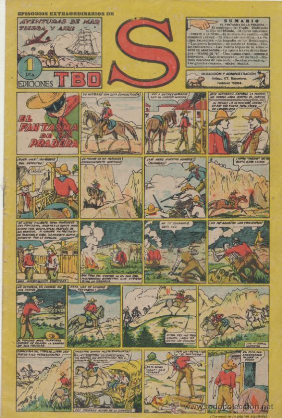 TBO S. EL FANTASMA DE LA PRADERA. BUIGAS 1947. (Tebeos y Comics - Buigas - Otros)