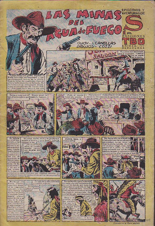 COMIC COLECCION EPISODIOS Y AVENTURAS DE S LAS MINAS DEL AGUA DE FUEGO (Tebeos y Comics - Buigas - Otros)