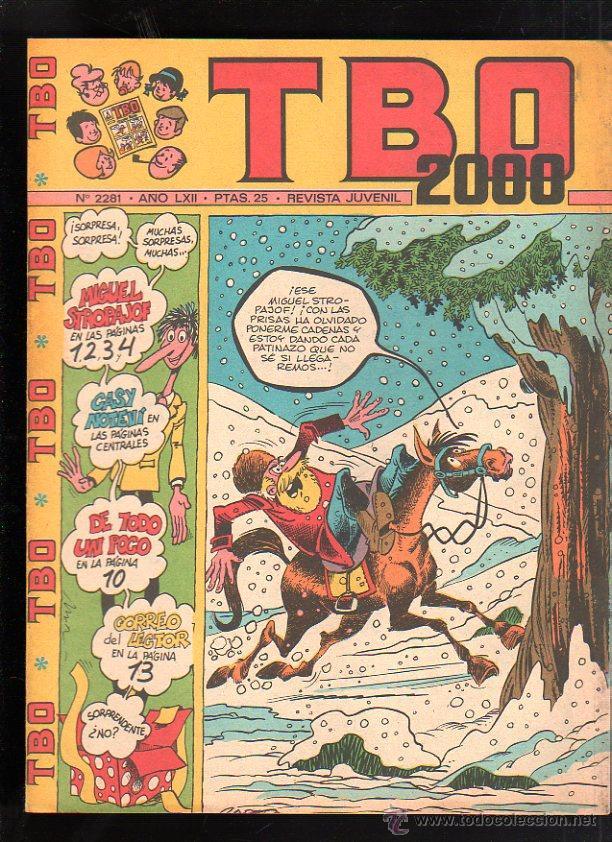 REVISTA JUVENIL. TBO 2000. AÑO LXII. Nº 2281. (Tebeos y Comics - Buigas - TBO)