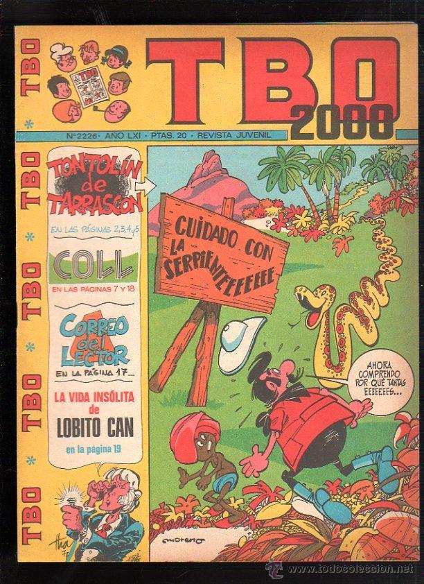 REVISTA JUVENIL. TBO 2000. AÑO LXI. Nº 2226. (Tebeos y Comics - Buigas - TBO)