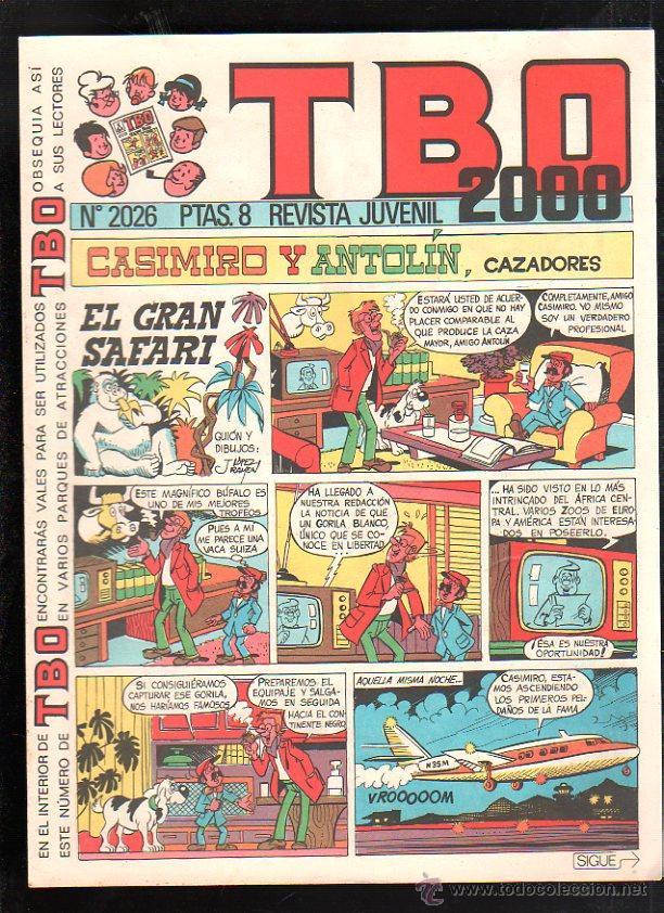 REVISTA JUVENIL. TBO 2000. Nº 2026. (Tebeos y Comics - Buigas - TBO)