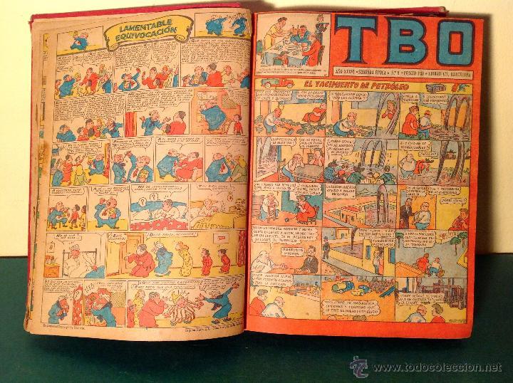 CÓMICS TBO 2º – ÉPOCA TODA LA COLECCIÓN 3 LIBROS ORIGINAL AÑO 1942 (Tebeos y Comics - Buigas - TBO)