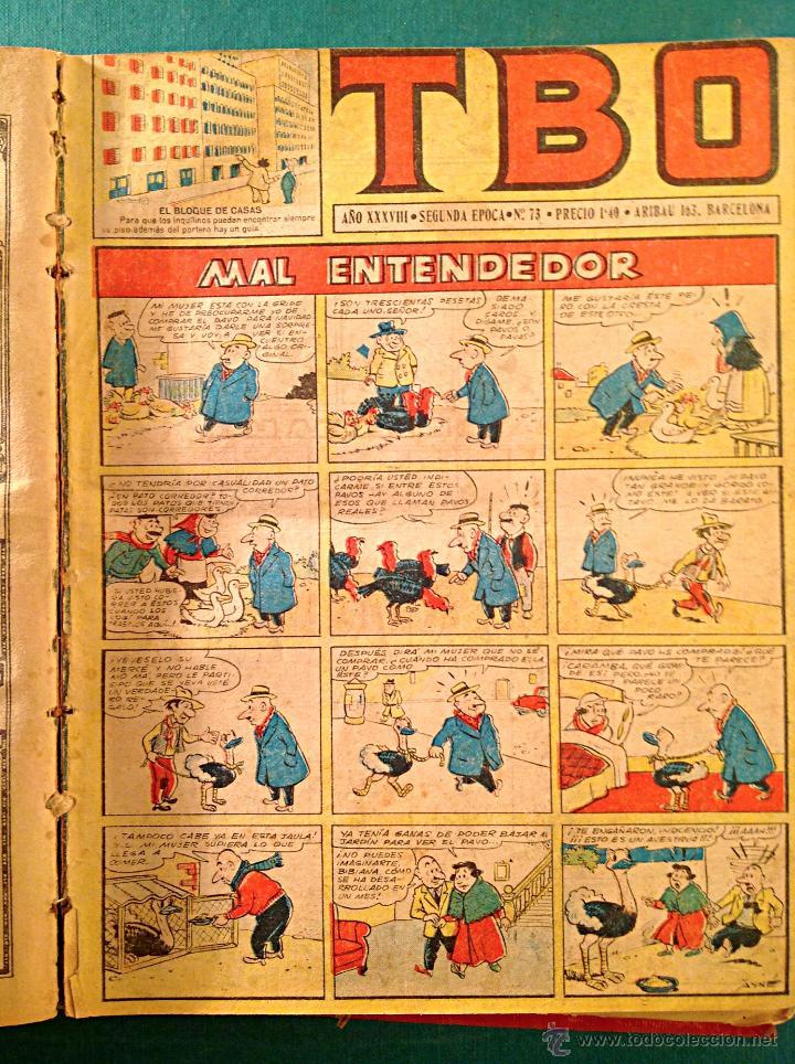 Tebeos: Cómics TBO 2º – Época Toda La Colección 3 libros Original Año 1942 - Foto 6 - 50487965