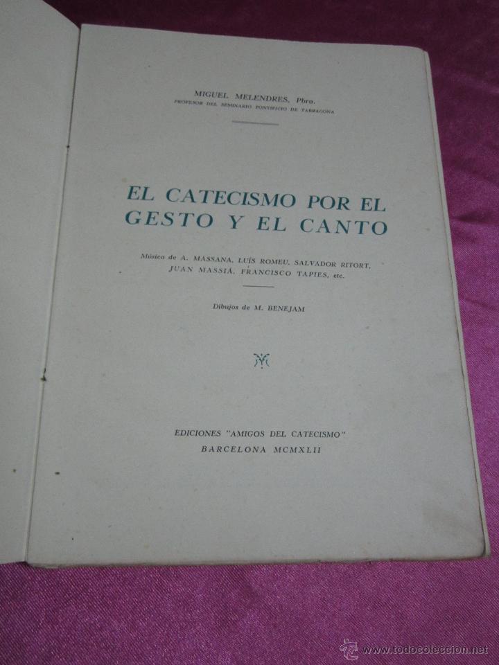 Tebeos: EL CATECISMO POR EL GESTO Y EL CANTO DIBUJOS DE BENEJAM DEL TBO 1942. C5 - Foto 3 - 32096999