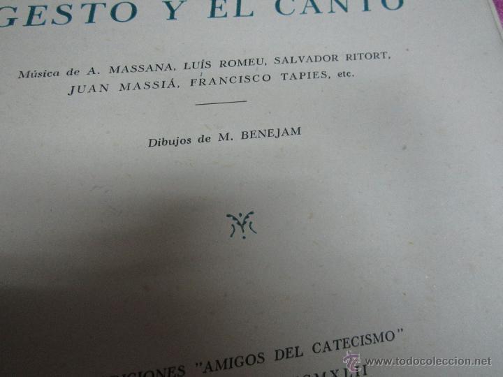 Tebeos: EL CATECISMO POR EL GESTO Y EL CANTO DIBUJOS DE BENEJAM DEL TBO 1942. C5 - Foto 7 - 32096999