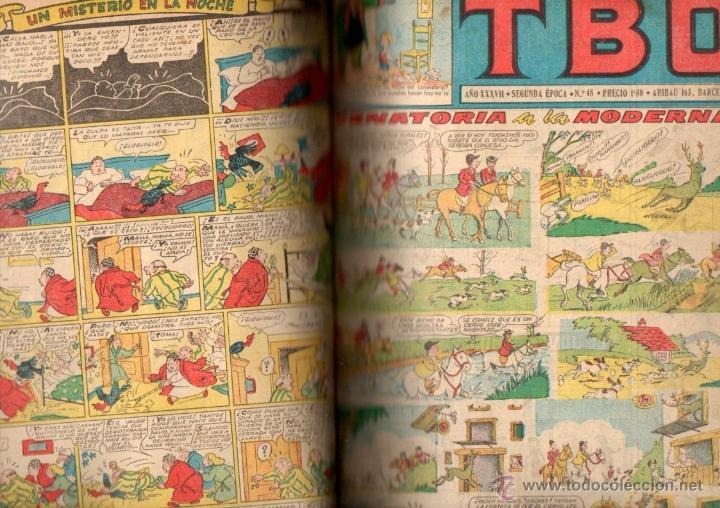 TBO SEGUNDA ÉPOCA NÚMS, 32 A 60 ENCUADERNADOS. AÑOS '50 (Tebeos y Comics - Buigas - TBO)