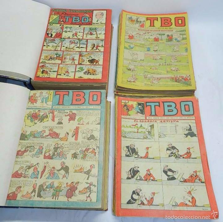 ESPECTACULAR LOTE DE TBO, UNOS 230 EN TOTAL APROX, 2 TOMOS ENCUADERNADOS CON LOS ALMANAQUES 1953, 19 (Tebeos y Comics - Buigas - TBO)