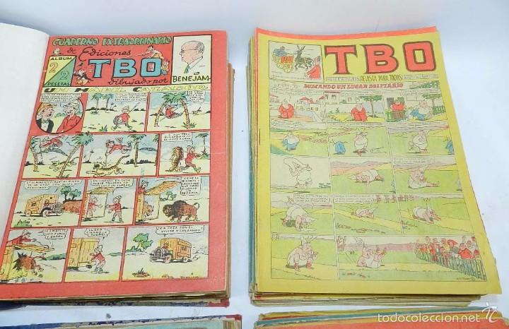 Tebeos: ESPECTACULAR LOTE DE TBO, UNOS 230 EN TOTAL APROX, 2 TOMOS ENCUADERNADOS CON LOS ALMANAQUES 1953, 19 - Foto 2 - 56713691