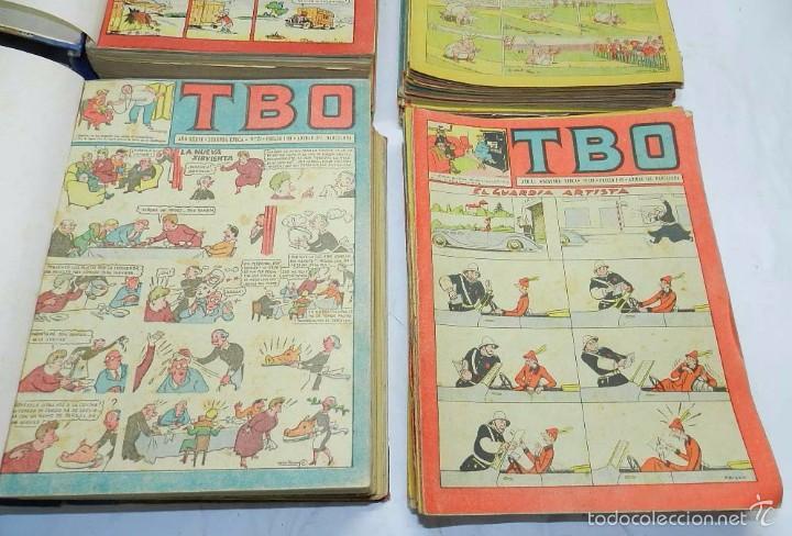 Tebeos: ESPECTACULAR LOTE DE TBO, UNOS 230 EN TOTAL APROX, 2 TOMOS ENCUADERNADOS CON LOS ALMANAQUES 1953, 19 - Foto 3 - 56713691