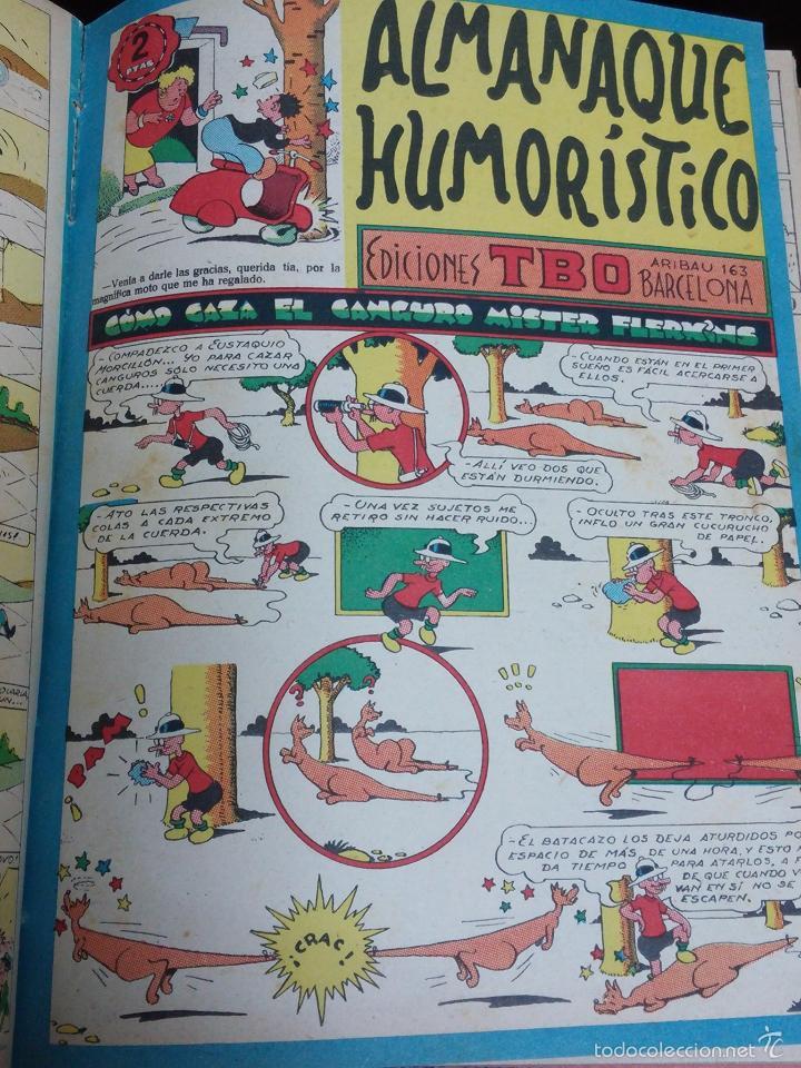 Tebeos: ESPECTACULAR LOTE DE TBO, UNOS 230 EN TOTAL APROX, 2 TOMOS ENCUADERNADOS CON LOS ALMANAQUES 1953, 19 - Foto 5 - 56713691