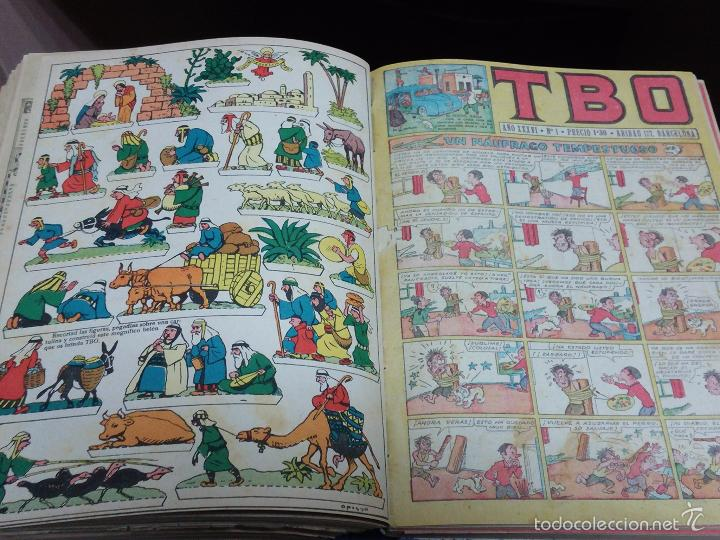 Tebeos: ESPECTACULAR LOTE DE TBO, UNOS 230 EN TOTAL APROX, 2 TOMOS ENCUADERNADOS CON LOS ALMANAQUES 1953, 19 - Foto 7 - 56713691