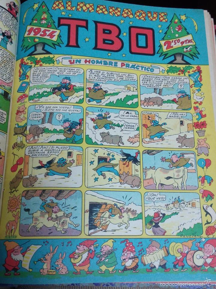 Tebeos: ESPECTACULAR LOTE DE TBO, UNOS 230 EN TOTAL APROX, 2 TOMOS ENCUADERNADOS CON LOS ALMANAQUES 1953, 19 - Foto 9 - 56713691