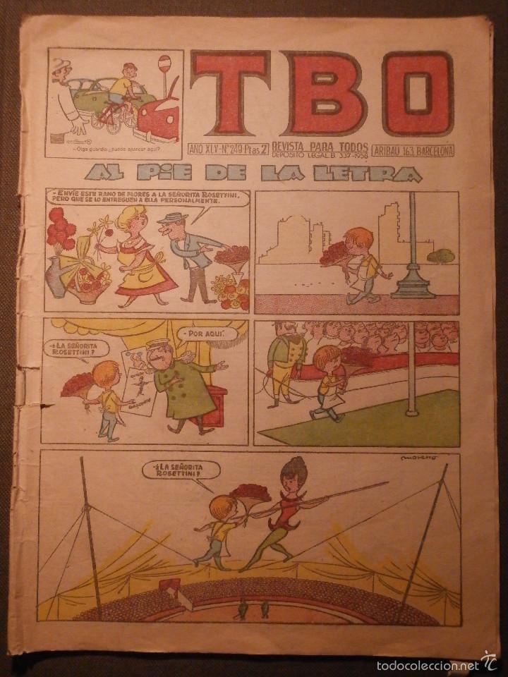 TBO - AÑO XLV - Nº 249 - EDITORIAL BUIGAS - REVISTA PARA TODOS - AL PIE DE LA LETRA - 1958 (Tebeos y Comics - Buigas - TBO)