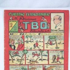 Tebeos: ANTIGUO CÓMIC - CUADERNO EXTRAORDINARIO DE EDICIONES TBO DIBUJADO POR BENEJAM. ÁLBUM 2- BUIGAS, 1947. Lote 67278785