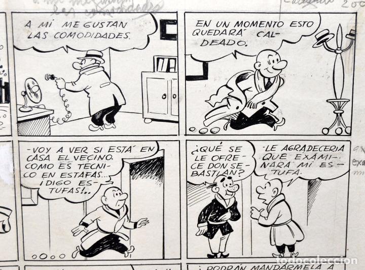 Tebeos: ANTONIO AYNE ESBERT (Barcelona, 1920 - Mataró, 1980) DIBUJO ORIGINAL A TINTA. GRAN FORMATO. - Foto 3 - 73246395