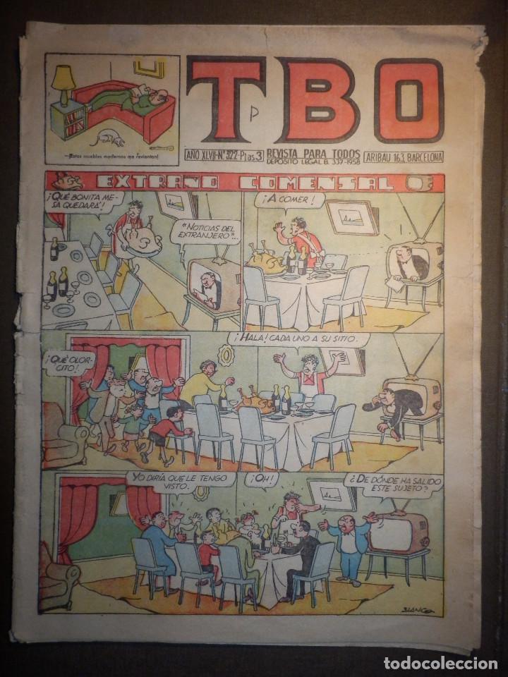 TBO - REVISTA PARA TODOS - AÑO XLVII - Nº 322 - 3 PESETAS - UN CASO ASOMBROSO - AÑO 1958 - (Tebeos y Comics - Buigas - TBO)