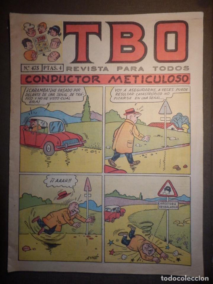 TBO - REVISTA PARA TODOS - Nº 475 - 4 PESETAS - CONDUCTOR METICULOSO - AÑO 196? - (Tebeos y Comics - Buigas - TBO)