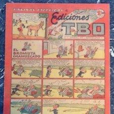 Tebeos: EDICIONES TBO, PÁGINAS ESCOGIDAS, EL BROMISTA CHAMUSCADO. Lote 76602855