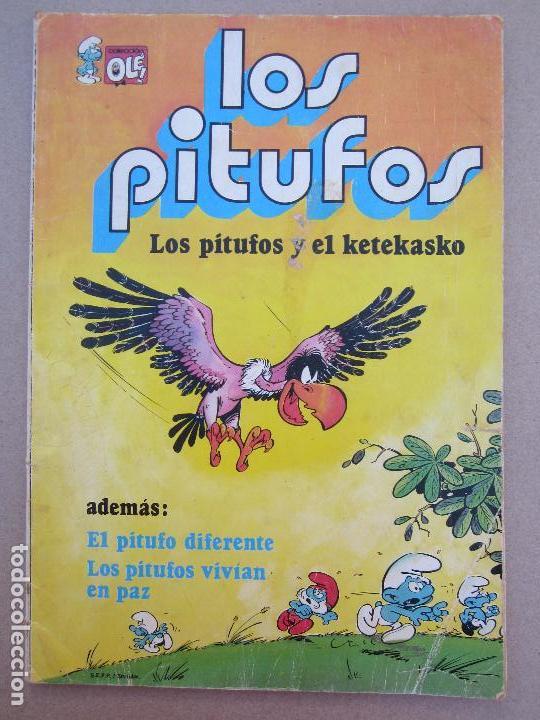 COLECCION OLE , LOS PITUFOS , N.6 LOS PITUFOS Y EL KE TE KASKO , PREIMERA EDICION1979 (Tebeos y Comics - Buigas - Otros)