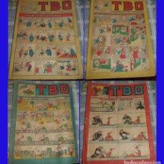Tebeos: TBO 4 NºS: 73 AÑO 1942 + 85 AÑO 1955 + 90 AÑO 1952 + 101 AÑO 1954 ORIGINALES DE EPOCA. Lote 82663772