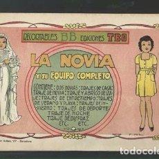 Tebeos: RECORTABLES BB. EDICIONES TBO: LA NOVIA Y SU EQUIPO COMPLETO, MUY BUEN ESTADO. Lote 87559024