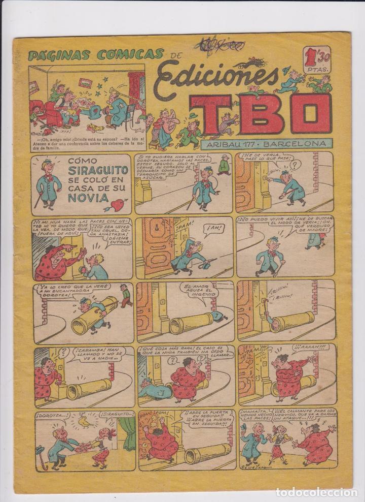 TBO. BUIGAS 1942. SERIE SIN NUMERAR (129) COMO SIRAGUITO SE COLÓ EN CASA DE SU NOVIA. (Tebeos y Comics - Buigas - Otros)