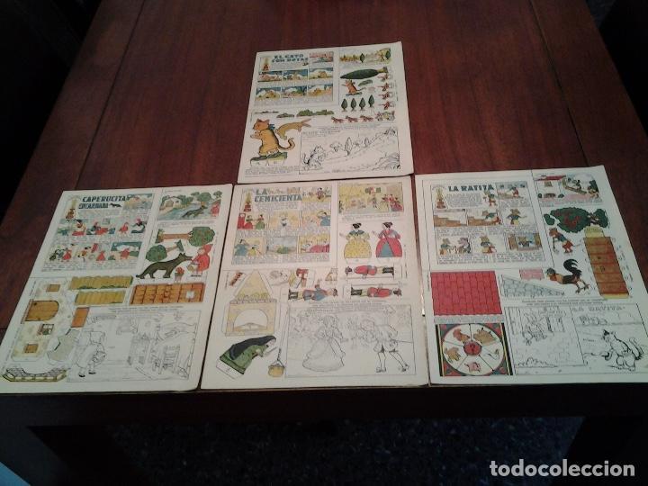 RECORTABLES TBO - EL GATO CON BOTAS, LA RATITA, LA CENICIENTA, CAPERUCITA ENCARNADA -DIBUJOS BENEJAM (Tebeos y Comics - Buigas - Otros)