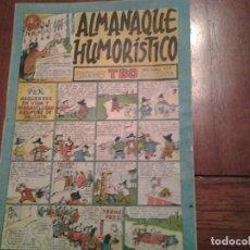 Tebeos: TBO - ALMANAQUE HUMORISTICO AÑO 1947 - ASQUEROSO EN VIDA Y MARAVILLOSO DESPUES DE MUERTO. Lote 90762835