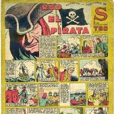 Tebeos: COMIC ORIGINAL EPISODIO EXTRAORDINARIOS EDICIONES TBO S RED EL PIRATA. Lote 99124983