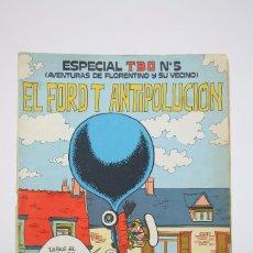 Tebeos: ESPECIAL TBO EL FORD T ANTIPOLUCIÓN - Nº 5 - EDITORIAL BUIGAS - AÑO 1973 - MEDIDAS 20,5 X 27,5 CM. Lote 99496951