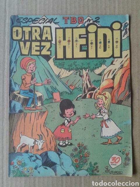 OTRA VEZ HEIDI. TBO ESPECIAL N°2. ADAPTACIÓN Y DIBUJOS DE JOSÉ CUBERO IBOR (AGOSTO, 1976). (Tebeos y Comics - Buigas - TBO)