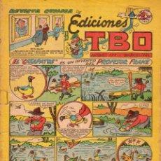 Tebeos: REVISTA CÓMICA DE EDICIONES TBO. Lote 100690679
