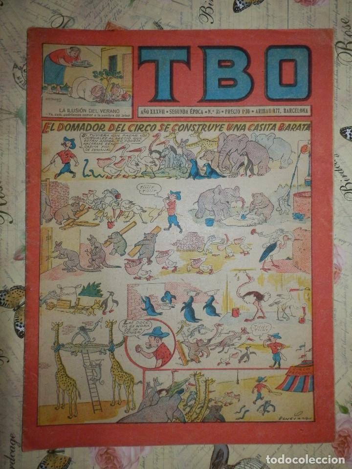 TEBEO - COMIC - TBO - AÑO XXXVII - Nº 35 - BRUGUERA - AÑO 1952 (Tebeos y Comics - Buigas - TBO)