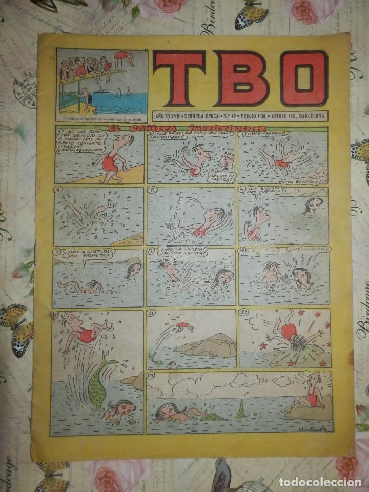 TEBEO - COMIC - TBO - AÑO XXXVII - Nº 40 - BUIGAS - AÑO 1952 (Tebeos y Comics - Buigas - TBO)