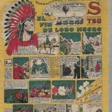 Tebeos: TEBEO. NARRACIONES Y AVENTURAS DE S. EDICIONES TBO. EL FIN DE LOBO NEGRO. Lote 108785223