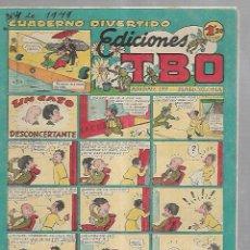 Tebeos: TEBEO. CUADERNO DIVERTIDO. EDICIONES TBO. UN CASO DESCONCERTANTE. Lote 108786139