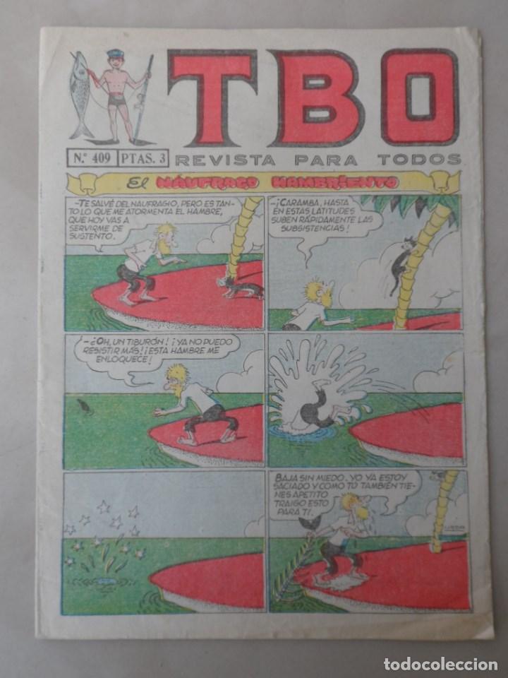 TBO 2ª EPOCA Nº 409 - POSIBLE ENVÍO GRATIS - BUIGAS - AGOSTO 1965 (Tebeos y Comics - Buigas - TBO)