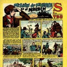 Tebeos: S: MISIÓN DE MUERTE EN EL MISSISSIPI (BUIGAS, 1947) NUEVO. Lote 115024059