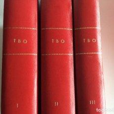 Tebeos: LOTE 3 TOMOS ENCUADERNADOS TBO - AÑOS 1965 A 1972. Lote 116267067