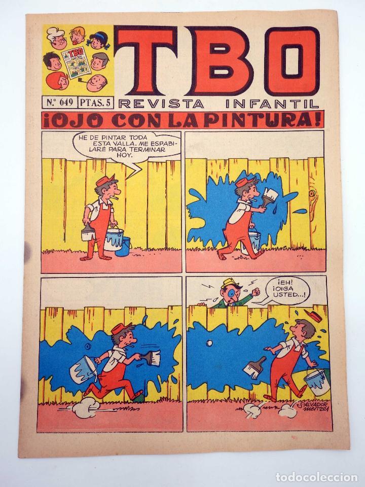 TBO REVISTA INFANTIL 649. OJO CON LA PINTURA (VVAA) BUIGAS, ESTIVIL Y VIÑA, 1970. OFRT (Tebeos y Comics - Buigas - TBO)