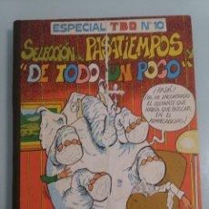 Tebeos: ESPECIAL TBO NUMERO 10. RETAPADO ORIGINAL CON TAPAS DURAS.. Lote 121605251