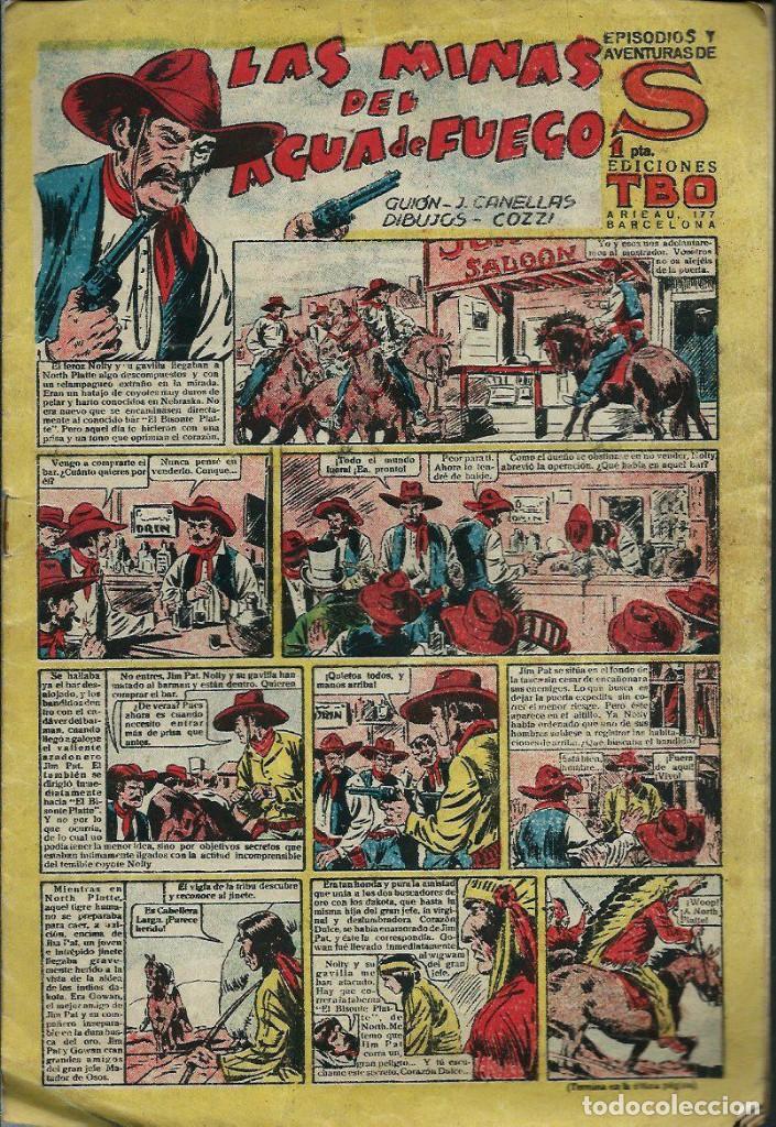 EPISODIOS Y AVENTURAS DE S - Nº 15 - LAS MINAS DEL AGUA DE FUEGO - EDICIONES TBO 1947 -ORIGINAL (Tebeos y Comics - Buigas - Otros)