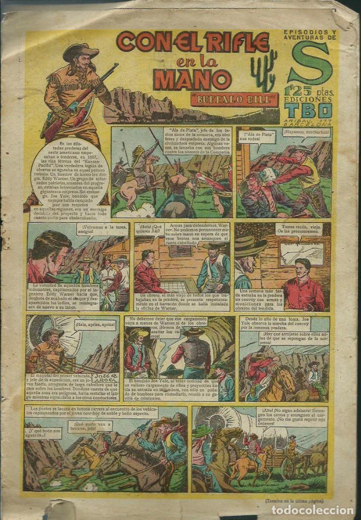 EPISODIOS Y AVENTURAS DE S Nº 27 - CON EL RIFLE EN LA MANO - ED. TBO 1948 -ORIGINAL -VER DESCRIPCION (Tebeos y Comics - Buigas - Otros)