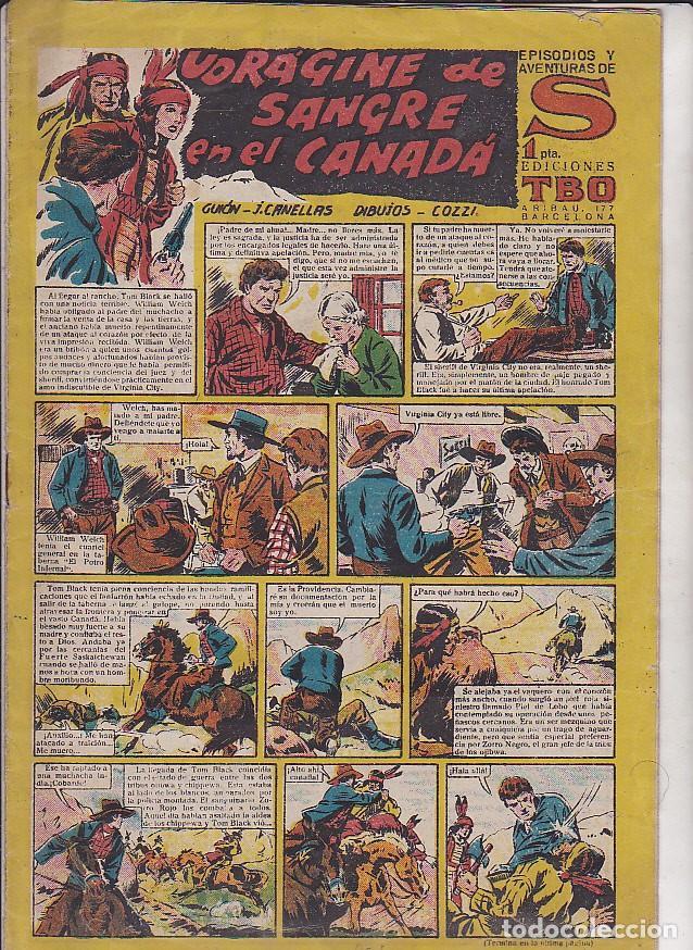 COMIC COLECCION S VORAGINE DE SANGRE EN CANADA (Tebeos y Comics - Buigas - Otros)