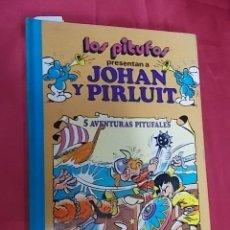 Tebeos: LOS PITUFOS. VOLUMEN 4. JOHAN Y PIRLUIT. 5 AVENTURAS PITUFALES. BRUGUERA. 1983 1ª EDICION. Lote 122830359