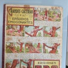 Tebeos: TBO 1945 CARTONE N° 3 DE 3 GRANDES CACERIAS INCOMPLETO. Lote 128162160