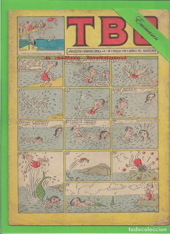 TBO - Nº 40 - EL BAÑISTA IMPERTINENTE - BUIDAS - (1953). (Tebeos y Comics - Buigas - TBO)