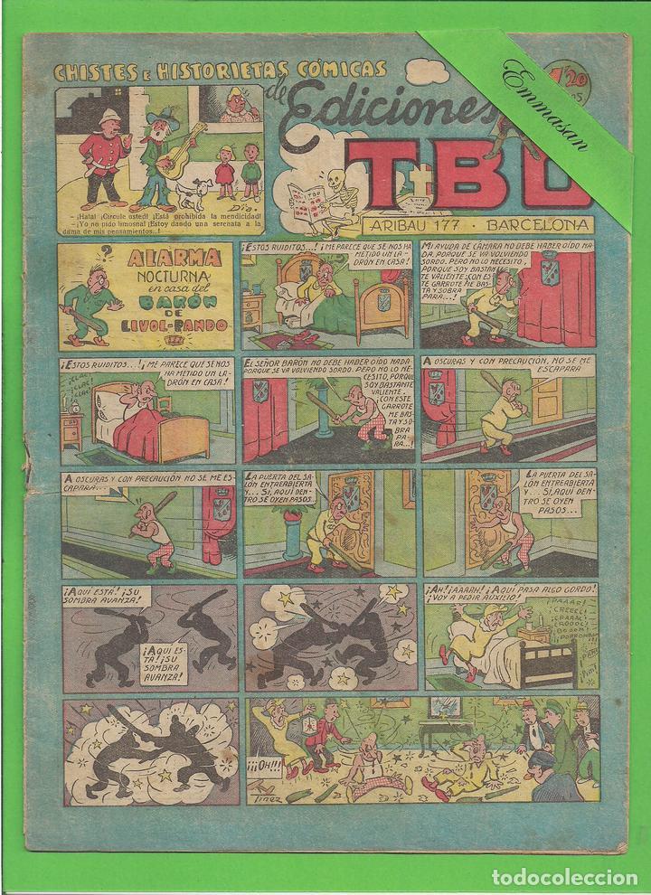 TBO - Nº 74 - ALARMA NOCTURNA EN CASA DEL BARÓN DE LIVOL-PANDO - BUIGAS - (1949). (Tebeos y Comics - Buigas - TBO)