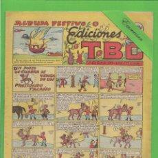 Tebeos: TBO - Nº 65 - UN MOZO DE CUADRA SE VENGA DE UN PRESUMIDO TACAÑO - BUIGAS - (1949).. Lote 132065722